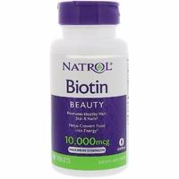 Витамины Natrol Biotin Биотин 100 таблеток 10мг