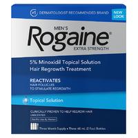 Лосьон Rogaine Регейн миноксидил 5% упаковка 3 флакона с дозатором